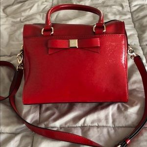 Kate Spade red patent leather bag with bow